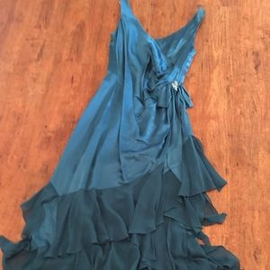 Kay Unger Teal gown